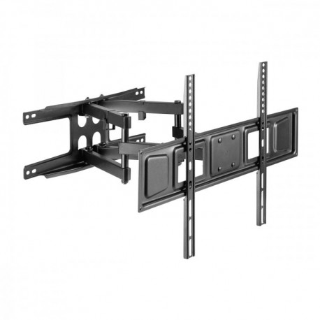 Izvlačno-okretni zidni stalak za ultra tanke ekrane - crni - SBOX  PLB-3646